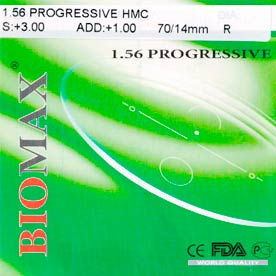 Линза полимерная прогрессивная Progressiv N=1.56 HMC EMI