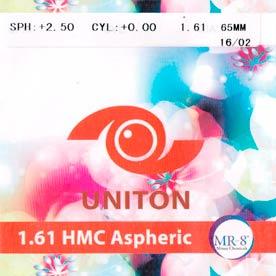 Линза полимерная MR-8 Uniton N=1,61 AS HMC EMI UV