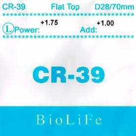 Линза полимерная бифокальная CR-39 N=1.499 Flat top bifocal