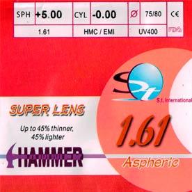 Линза полимерная Hammer N=1,61 AS HMC EMI UV